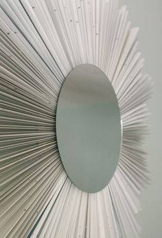 diy sunburst mirror under 10, crafts, Glue the mirror on the front Add wall hanging clips to the plywood and hang