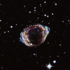 The source of G1.9+0.3 was most likely a white dwarf star that underwent a thermonuclear detonation and was destroyed after merging with another white dwarf, or pulling material from an orbiting companion star. This is a particular class of supernova explosions (known as Type Ia) that are used as distance indicators in cosmology because they are so consistent in brightness and incredibly luminous.The explosion would have been visible from Earth a little more than a hundred years ago.