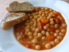 Pomalý hrnec: Cizrnový guláš s klobáskou v pomalém hrnci Multicooker, Black Eyed Peas, Chana Masala, Crockpot, Slow Cooker, Beans, Food And Drink, Vegetables, Ethnic Recipes