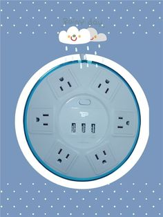 Power Strip, Ufo, Tabletop, Charger, Filters, Cord, Modern Design, Tech, Slim