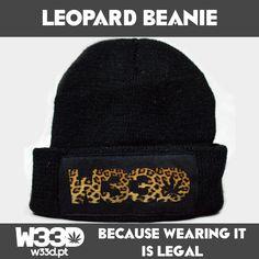 Leopard Beanie #W33D