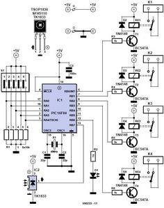Home Remote Control Circuit Diagram Check more at http://blog.blackboxs.ru/category/cooking/