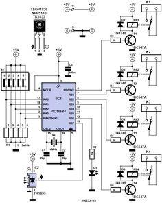 Home Remote Control Circuit Diagram