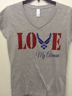 Military Air Force Wife Girlfriend fitted v-neck t on Etsy, $22.00