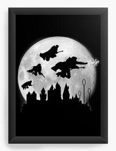 Quadro Decorativo Harry Potter - Movie - Camisetas Nerd e Geek | Compre agora com o melhor preço