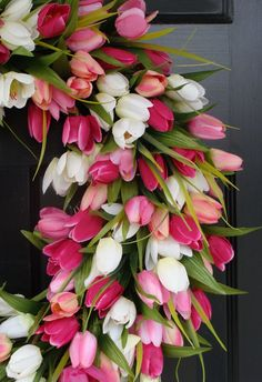 tulip wreath....