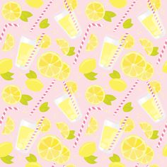 Pink Lemonade fabric by renata_f on Spoonflower - custom fabric