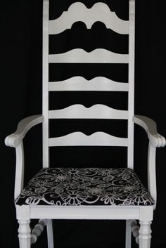 White wood chair wit