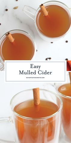 Whether you serve it at Thanksgiving, Christmas or a cool fall night, this EASY Mulled Cider recipe is perfect for fall. You can spike it too! #mulledcider #mulledciderrecipe #spikedmulledcider www.savoryexperiments.com Homemade Hot Chocolate, Hot Chocolate Recipes, Best Mulled Cider Recipe, Fall Recipes, Holiday Recipes, Apple Recipes, Christmas Recipes, Brownie Recipe Video, Dried Orange Peel