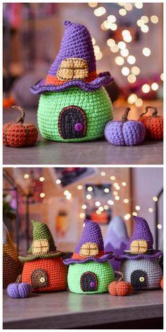 halloween cat Amigurumi Halloween Cat Kostenlose A - halloween Crochet Amigurumi, Crochet Toys, Free Crochet, Cat Crochet, Cat Amigurumi, Crochet Birds, Knitted Dolls, Crochet Animals, Halloween Toys