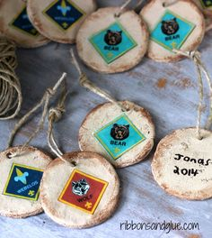 DIY Rustic Salt Dough Ornaments. Paint the ornaments to give a distress look then use Mod Podge to adhere images.