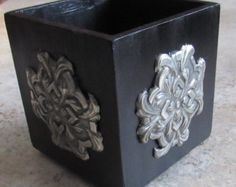 Embossed Pewter Mirror by PewterBeauty on Etsy Bismuth, Emboss, Pewter, Decorative Boxes, Copper, Mirror, Unique Jewelry, Metal, Handmade Gifts