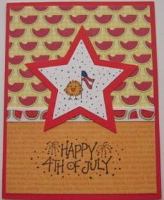 DeNami Patriotic Chickie card by Carol