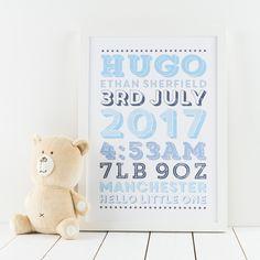 Retro New Baby Print