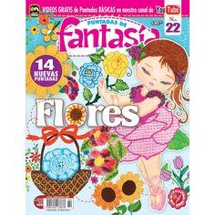 Revista Puntadas de Fantasía 22 - Flores - Formato Impreso