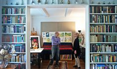 Lovely library of the Babar illustrator - Laurent de Brunhoff and Phyllis Rose - NYTimes.com