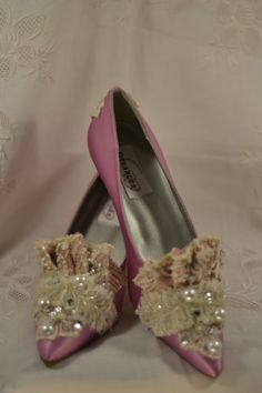 Princess Marie Antoinette Beaded Lace Heels