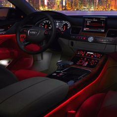 cool Blacked out, but pink instead of red for the mood lighting.... Audi 2017 Check more at http://carsboard.pro/2017/2016/12/26/blacked-out-but-pink-instead-of-red-for-the-mood-lighting-audi-2017-2/