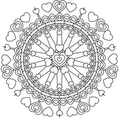 Mandala coloring page by Jamie Nicolle - feel free to print it out and color