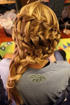 Dutch Waterfall Braid Hairstyles #prom yellow hairstyles