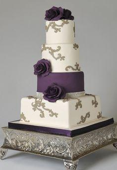 purple, gray & white cakes - Google Search