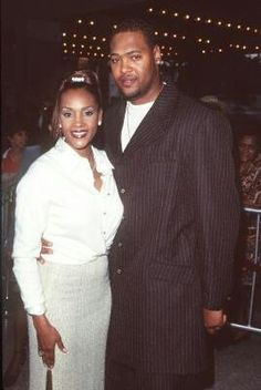 Vivica A. Fox and then husband at the premiere of Why Do Fools Fall on Love Vivica Fox, Black Star, Beautiful Couple, Business Women, Black Women, Husband, Actresses, Stars, Couples