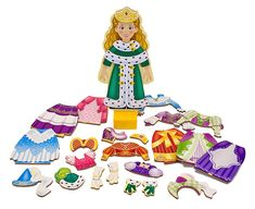Princess Elise is a magnetic paper doll popular with young girls.  Recommended age: over 3 due to small pieces.  $12.99 at Melissa and Doug's