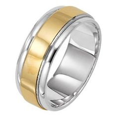 Reminiscent Of The One Ring 475 Rose And White Gold Mens Wedding Band Polished Rails