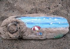 Wall Hanging Painted Driftwood Driftwood Sailboats by gardenstones, $24.60