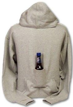 Amazon.com: Beer Hoodie Sweatshirt with Beer Pouch: Clothing