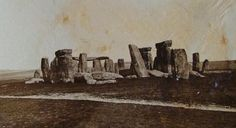 Wow .. 1877 photograph of Stonehenge, prior to any restoration work.