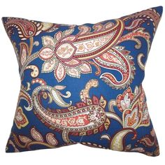 Bring texture and dimension to your living space with this colorful floral toss pillow.