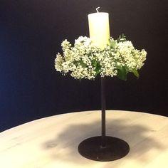 Centro de mesa, vela con paniculata