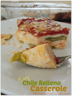 From the Kitchen of Mama Harris: Easy Chile Relleno Casserole Mexican Dishes, Mexican Food Recipes, New Recipes, Favorite Recipes, Easy Chile, Chili Relleno Casserole, Low Carb Protein, Mexico Food