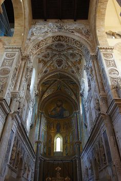 Duomo Interior - Cefalu, Sicily by Luke Robinson, via Flickr