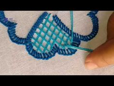 Hand Embroidery Flower Designs, Rangoli Designs Flower, Embroidery Hoop Crafts, Basic Embroidery Stitches, Hand Embroidery Videos, Hand Embroidery Tutorial, Sewing Stitches, Crewel Embroidery, Embroidery Patterns