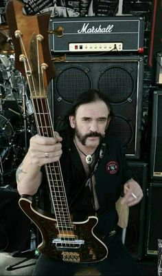 Lemmy and his signature Rickenbacker Rock And Roll, Rock N Roll Music, Hard Rock, Woodstock, Heavy Metal Rock, Live Rock, Rock Groups, Music Icon, Art Music