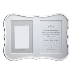 Kate Spade Crown Point double invitation frame