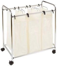 Bag Laundry Sorter Bathroom Hamper Bins Storage Clothes Basket Trolley Cart Home for sale online
