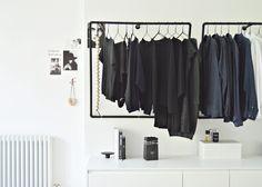 open bedroom closet diy idea