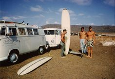 Vintage Surfing | ... vintage shot of a couple of VW buses on a surfing outing to Baja back