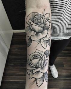 dotwork-rose-tattoos.jpg (476×590)
