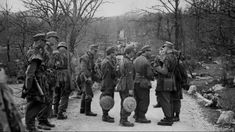Post with 0 votes and 2409 views. German soldiers on anti-partisan patrol, note the mines, Yugoslavia 1943 part 2 in German Uniforms, War Image, German Army, Central Europe, World War Two, Historical Photos, Warfare, Wwii, Germany