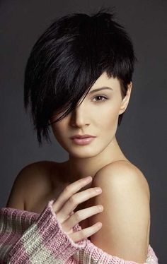 Black Long Pixie Haircut for Long Face: Asian Short Hairstyles