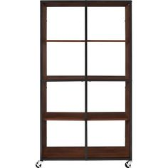 Altra Furniture Mason Ridge Mobile 8-Shelf Bookcase/Room Divider with Metal Frame in Cherry and Castors-9630096 - The Home Depot