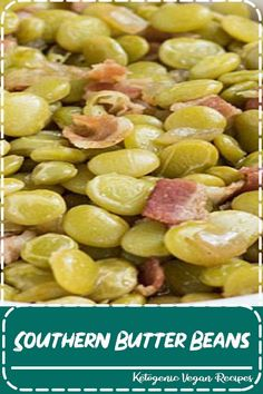 """Southern Butter Beans - Meg say """"Oh How I miss these"""". My mom made the best! Southern Dishes, Southern Recipes, Southern Thanksgiving Recipes, Southern Sunday Dinner Ideas, Southern Comfort Foods, Southern Meals, Louisiana Recipes, Side Dish Recipes, Vegetable Recipes"""