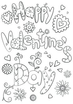 Happy Valentines Day Coloring Pages Page Free Printable