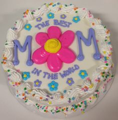 Mother's Day Cake Cake Decorating Techniques, Cake Decorating Tips, Wiener Schnitzel, Dairy Queen Cake, Sheet Cake Designs, Buttercream Cake, Frosting, Mother's Day Cookies, Spring Cake