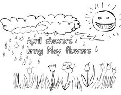 free printable april coloring pages - April Coloring Pages Toddlers