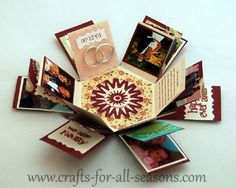 Hexagon Explosion Box, a perfect gift to give someone special - full tutorial and pattern at Crafts For All Seasons